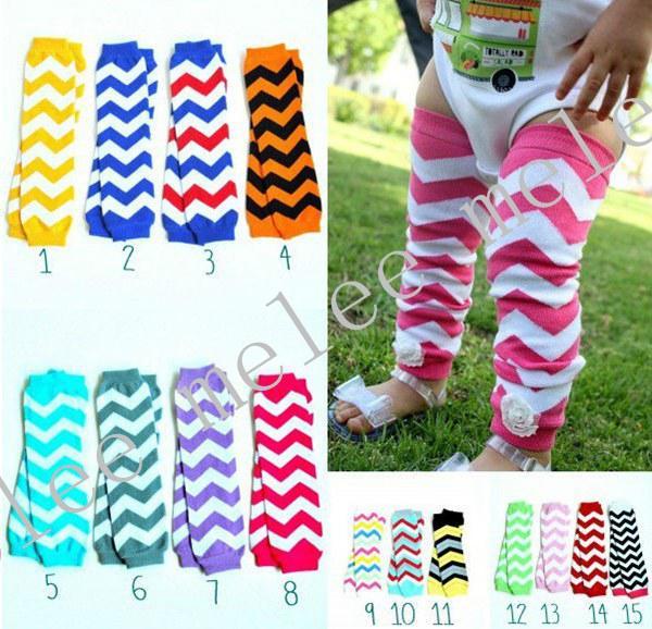 Baby Chevron Leg Warmer Baby Leg Warmers infant colorful leg warmer child socks Legging Tights Leg Warmers 15pairs/lot,accept color choose