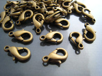DIY 500pcs Bronze Solid Mini Lobster Claw Clasps Encerramento 12mm x 7mm Jewelry Finding