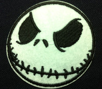 Wholesale Nightmare Before Christmas Cartoon - Wholesale~10 Pieces Cartoon Nightmare before Christmas Jack (6 x 6cm) Kids Patch Embroidered Iron On Applique Patch Punk Patch