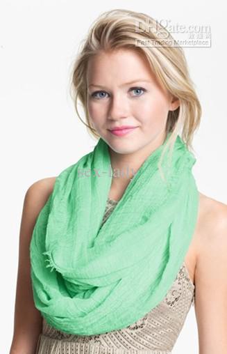 'Zil' Infinity Eşarp Düz renk Yumuşak Pamuk Sonsuzluk Atkılar Mix Sipariş