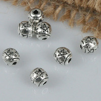 Wholesale 5mm Spacer Beads - 70pcs tibetan silver tone 5mm star patterns spacer beads H1934