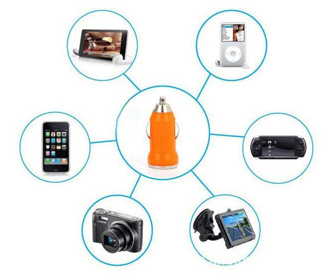 cheapest Colorful Bullet Mini USB Car Charger Universal Adapter 1A 1000mA portable charger for samsung S7 S8 iphone X XR XS MAX