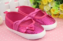Wholesale Pretty Shoes - Wholesale - Sequins toddler shoes free shipping 2013 pretty girls bling beaded sequins 3 colors optional baby toddler shoes 0-3 years