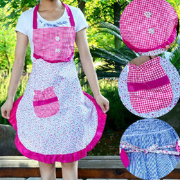 Wholesale Princess Style Apron - Colorful Princess Apron Kitchen Restaurant Antifouling Apron Floral Style Overalls Pinafore Free Shipping