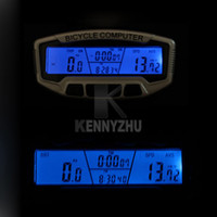 Wholesale Digital Lcd Bike Bicycle Computer - New Waterproof Noctilucent Digital LCD Bicycle Computer Odometer Bike Meter Speedometer