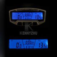 Wholesale Digital Speedometer Odometer - New Waterproof Noctilucent Digital LCD Bicycle Computer Odometer Bike Meter Speedometer