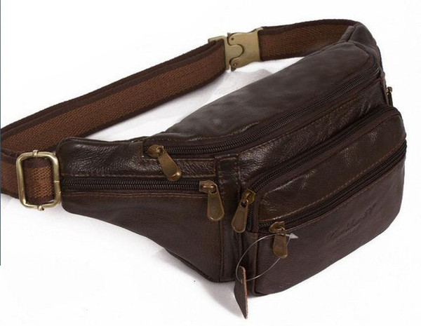 Leather Pocket Fashion Cellphone Waist Bag outdoor Casual Aslant Bag 23*14*8 cm Best cheap Bag free shipping