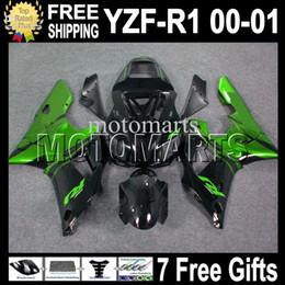 $enCountryForm.capitalKeyWord Canada - 7 Free gifts High Quality For YAMAHA ! YZF-R1 00-01 YZF R1 YZF 1000 00 01 MT804 YZFR1 YZF1000 2000 2001 Green flame black YZF-1000 Fairing