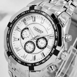 Wholesale Gift Secret - New CURREN brand Men military watch Fashion Quartz Adjustable sports watches Fashion Steel Men Watch For Gift Free Shiping