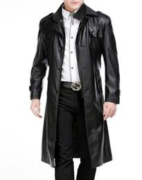 Livraison gratuite hiver nouveau style hommes veste de costume en cuir col section plus longue amovible double col, plus épais manteau de fourrure de velours ? partir de fabricateur