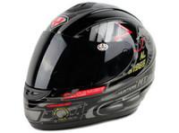 tam kask toptan satış-Tam yüz Motosiklet kask, siyah cobralar Motosiklet motokros YOHE 993 knight Yarış kaskları, siyah Lens, Sıcak satmak