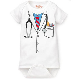 Gray Bowties Canada - baby boys bodysuits boys' rompers customes doctor grey one-piece black tuxedo bowties
