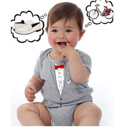 Wholesale Boys Shortall 24 Months - baby rompers shortall girls' romper boys' bodysuit outfits cotton coverall customes