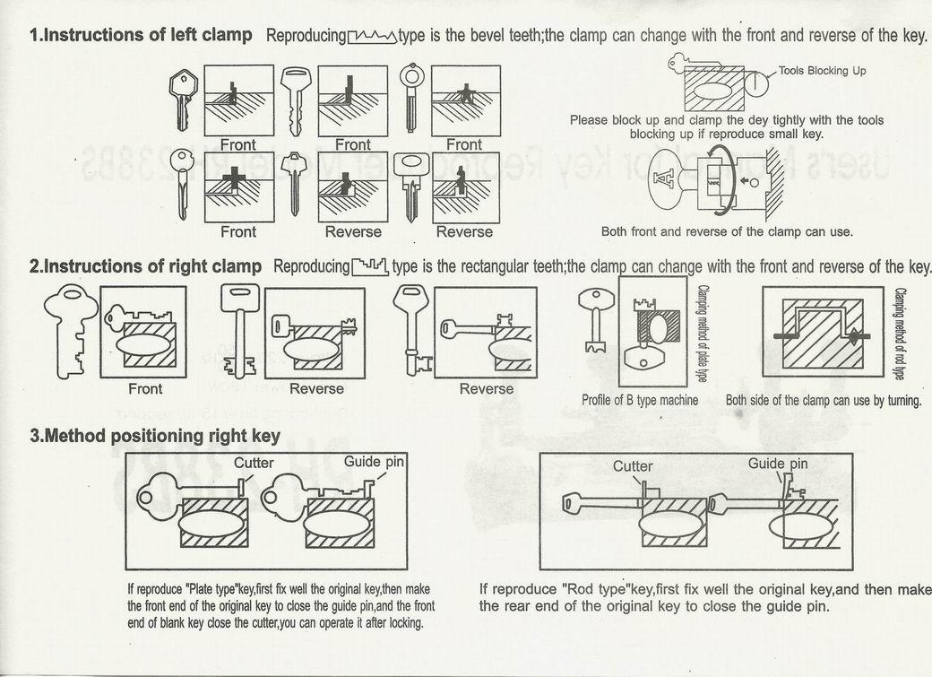 DEFU 238BS Double Sides Manual Car Key Cutting Machine Auto Lock Pick Gun  Hooks Kit Set Open Car Door Locksmith Gear Locksmith Kits From