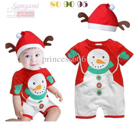 2017 Xmas Baby Clothes Cute Christmas Infant Girls Snowman Rompers ...