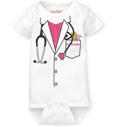 Wholesale Boys Rompers 18 Months - baby boys bodysuits girls' rompers doctor