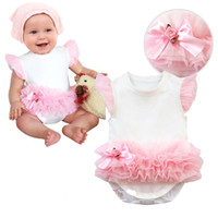 Wholesale Baby Girl Babywear - baby bodysuit toddler rompers baby clothes tutu new born one-piece romper yarn babywear infant jumpsuit overalls lace girls shirt D25