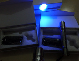 Wholesale Pointer Burning Torch - high power NEW 405nm high powered focusable green  red   violet blue laser pointer  UV Purple laser torch Burn Matches free shipping