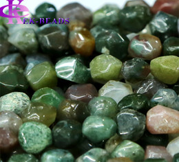 """Fancy Beads Canada - Discount Wholesale Natural Genuine Fancy Agate India Agate Stone Nugget Loose Beads Hand Cut Free Form 8-10mm Fit Jewelry 16"""" 02727"""