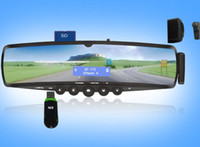 Wholesale Mp3 Bluetooth Mirror - Bluetooth Mirror TTS Phonebook Car DVR MP3 Ear piece FM Hands Free Communicating Mobile Bluethooth Stereo Music Player System