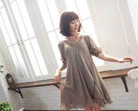 Wholesale Korean Maternity Skirt - 2014 summer Korean maternity dress pregnant women dress chiffon skirt half Sleeve