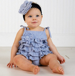 Wholesale Girls Petti Dresses - posh petti baby romper lace baby layer bodysuit baby one-piece dress rompers babywear newborn overall baby clothes singlet D49