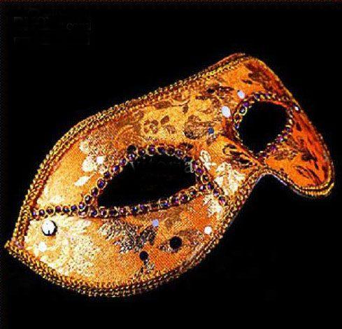 Maschera Mezza Faccia di Halloween Maschera Maschile Maschile Maschere Veneziane Venezia Italia a tinta unita i