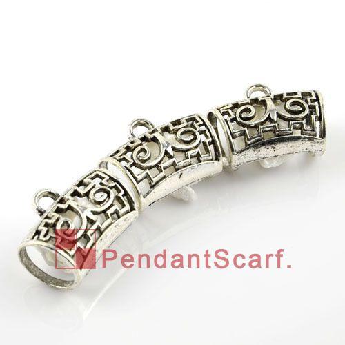 Popular DIY Jewellery Necklace Scarf Pendant Accessories Mental Zinc Alloy Charm Slide Bails Tube, AC0054A