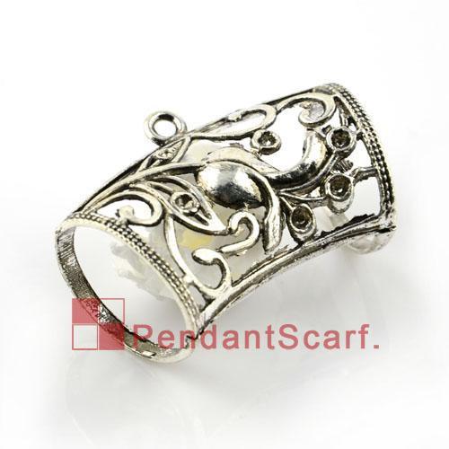 12PCS/LOT, Top Popular DIY Jewellery Scarf Pendant Accessories Mental Zinc Alloy Flower Slide Bails Tube Charm, Free Shipping, AC0018A