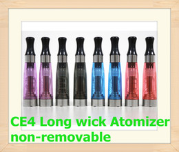Wholesale Ego K Ce4 Wick - CE4 CE5 CE6 CE4S CE6S CE4+ protank T2 atomizer Clearomizer ego long wick Heavy vapor for eGo EGO-T EGO-W EGO-C eGo K batteries blister kits