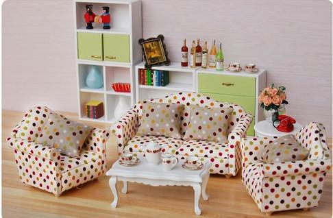 dollhouse furniture sets. dollhouse mini drawing room furniture toy 112 round spotted sofas set desk decoration dolls big doll house from add_buy 6232 dhgatecom sets f