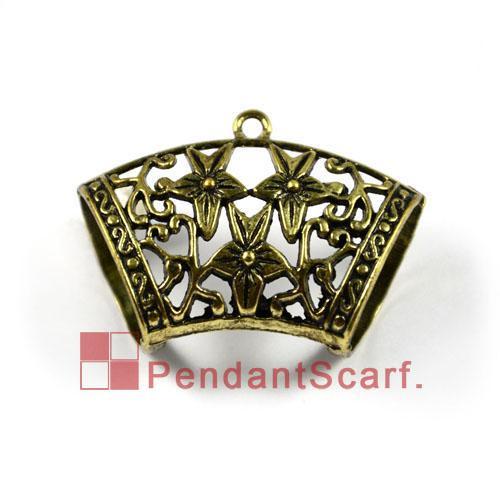 Hot Sale DIY Jewellery Scarf Accessories Antique Bronze Zinc Alloy Charm Star Design Slide Bals Tube, AC0021B
