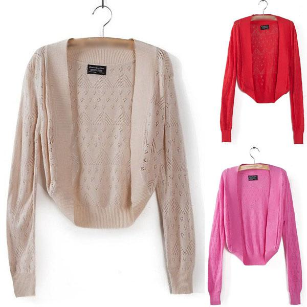 2018 New Ladies Knitted Shrug Women Bolero Cardigan Top Short ...