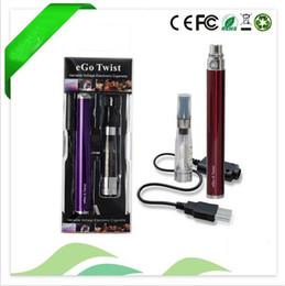 Wholesale Set Ego Ce5 Atomizer Kit - single kit eGo-c Twist electronic cigarette 1100mah 900mah 650mah adjustable battery 3.2V to 4.8V with CE4 CE5 Atomizer
