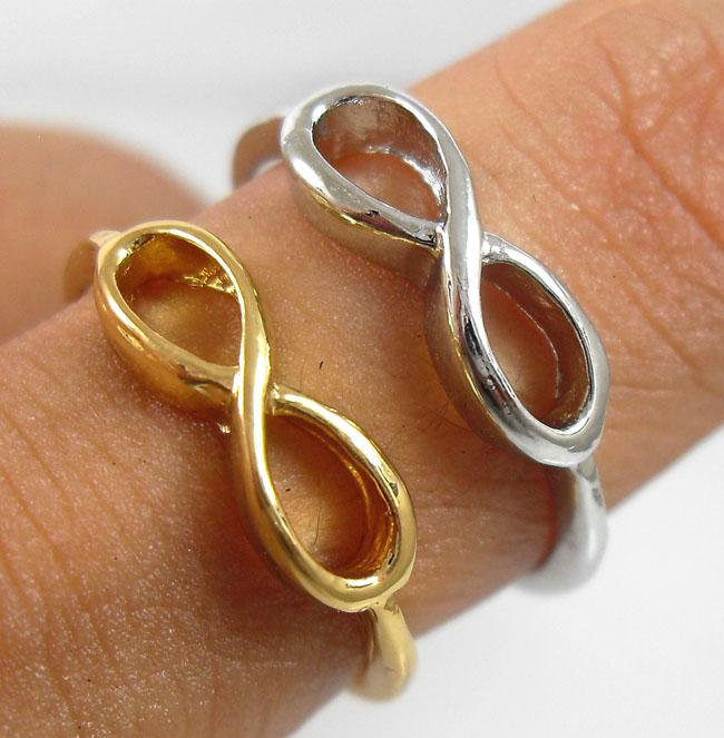 50x Gold / Silver Mix One direction anelli infinity rings Vendita all'ingrosso di gioielli Fashoin