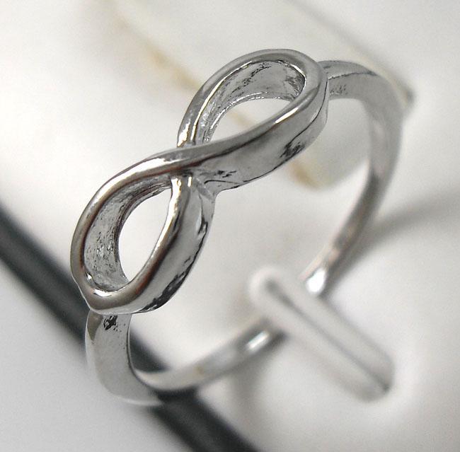 50x goud / zilver mengsel één richting ringen Infinity ringen groothandel fashoin sieraden kavels