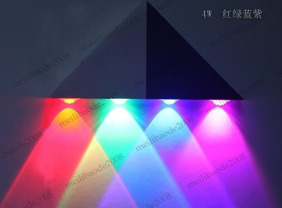 5W LED Aluminum Wall Lamp LED Corridor Light Balcony Lights Aisle Lamps AC85~260V Triangle MYY5069
