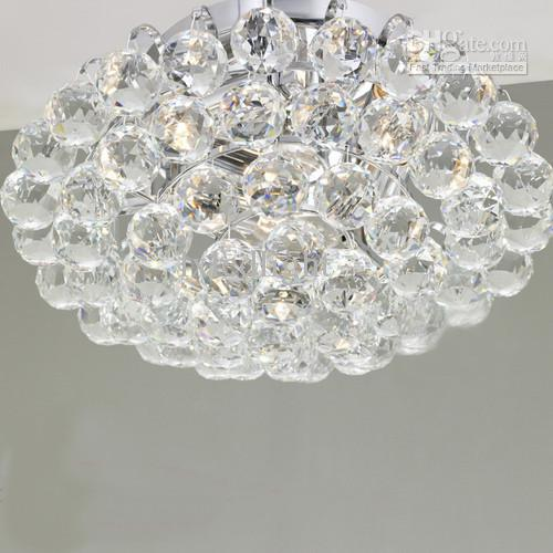 New crystal ball ceiling light chandelier pendant lamp fixture new crystal ball ceiling light chandelier pendant lamp fixture lighting 380mm chandelier for girls room foyer chandelier from lxledlight 20604 dhgate aloadofball Images