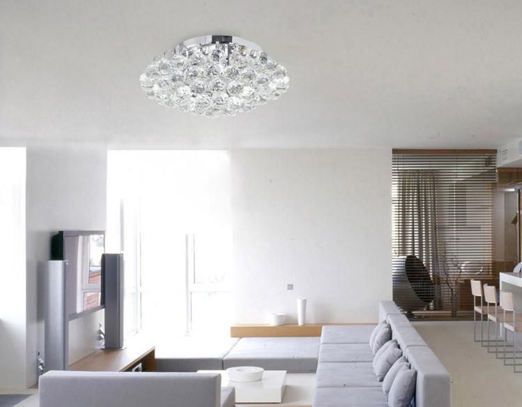 Nieuwe Crystal Ball Plafond Licht Kroonluchter Hanglamp Armatuur Verlichting 380mm