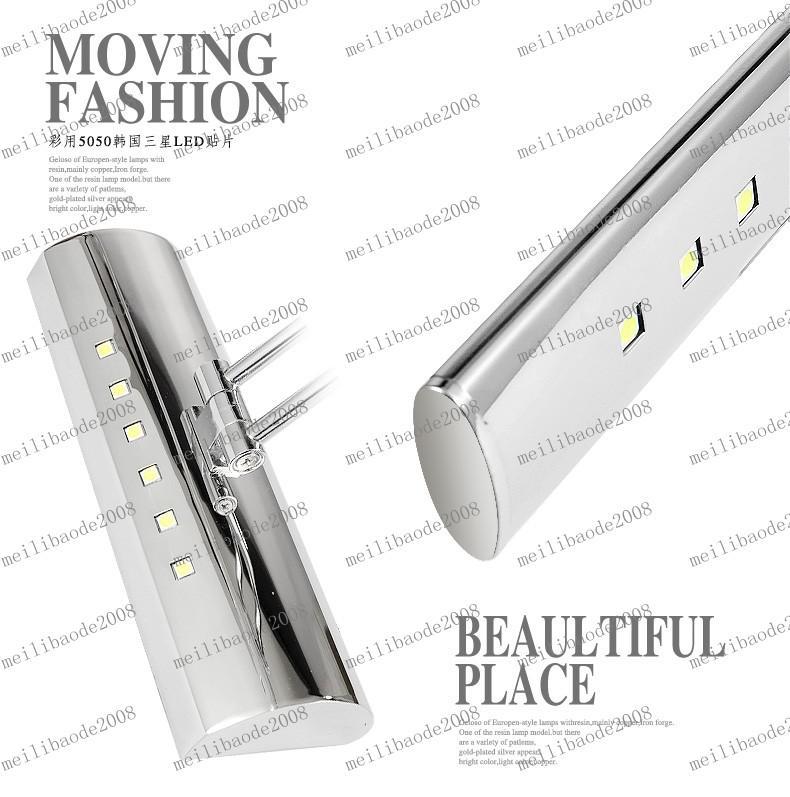 LLFA90 de 5W Lanhome LED Brief moderne en acier inoxydable de salle de bains Miroir Miroir Cabinet Lampe cosmétique Eclairage
