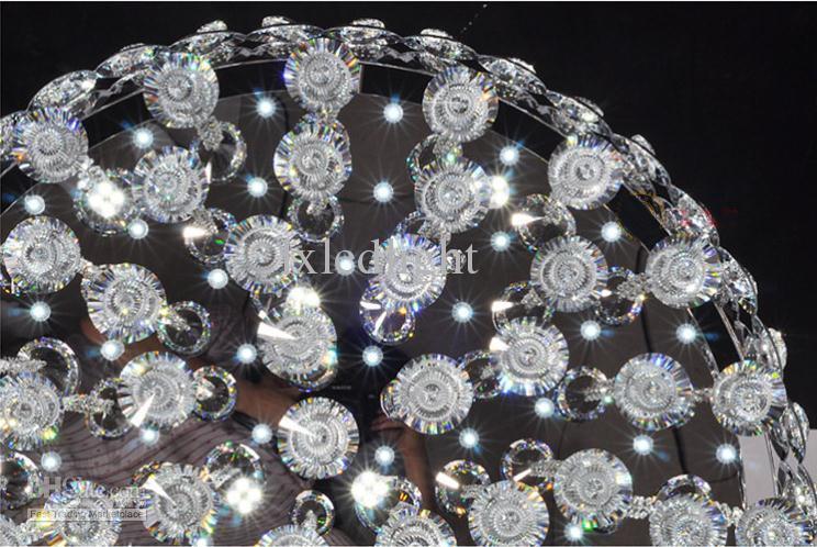 Moderne kristallen kroonluchter geleid plafondlamp hanglamp armatuur verlichting 80cm