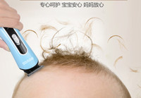 Wholesale Hair Clipper Povos - POVOS Brand Baby Hair Clipper Chargeable Low Noise Cheap Free Shipping PR3011 Blue