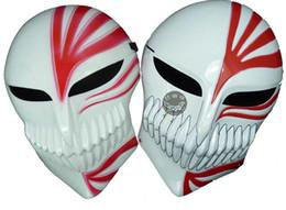 Wholesale Volto Masks Dance - Halloween Mask black red death mask ghost step dance ichigo kurosaki mask bleach ichigo hollow mask cosplay free shipping in stock