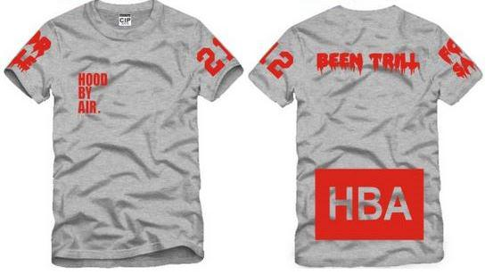 Chinese Size S--XXXL summer tshirt HBA t shirt Hood By Air HBA X Been Trill Kanye West tee shirt 100% cotton