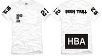 Wholesale Hba Red T Shirt - Free shipping Chinese Size S--XXXL summer tshirt HBA t shirt Hood By Air HBA X Been Trill Kanye West tee shirt 100% cotton 6 color