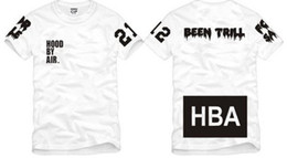 Wholesale Kanye West Tshirt - Free shipping Chinese Size S--XXXL summer tshirt HBA t shirt Hood By Air HBA X Been Trill Kanye West tee shirt 100% cotton 6 color
