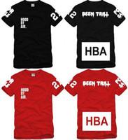 trilles tees achat en gros de-Tee shirt enfant tee shirt enfant t-shirt capuche By Air HBA X été Trill Kanye West t-shirt 4 couleurs 100% coton