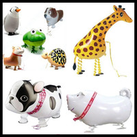 Wholesale Hot Baby Delivery - Walking Balloons Walking Pet Foil Animal Print Personalized walking balloons for baby as good toys printing colored delivery hot new sale