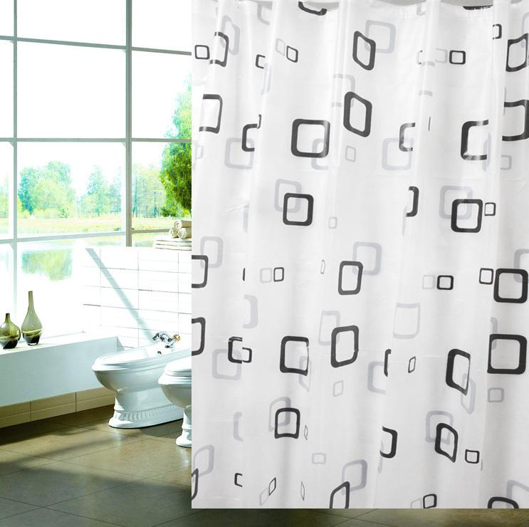 Captivating FREE SHIPPING,pvc Bathroom Shower Curtain,Black U0026 White Tartan Plaid ,water  Proof Shower Curtain Sets,180*180cm, M182
