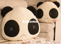 Wholesale Lumbar Pillow Panda - FREE SHIPPING,Soft Cartoon Panda Lumbar Pillow Plush cartoon seat cushion Home Textile children's pillow,gift,drop shipping,Q007